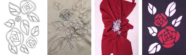 薔薇1イラスト絞り柄