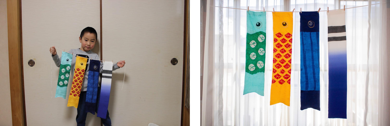 室内用鯉のぼりをインテリアで飾る